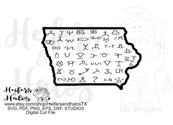 Iowa brands digital file, digital cut file, printable, sublimation, svg, dxf, png, eps, pdf - t-shirt design, cricut, silhouette