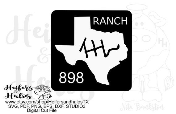 Texas Ranch sign customized to your ranch/farm, digital file, digital cut file, printable, sublimation, svg, pdf. png, eps,