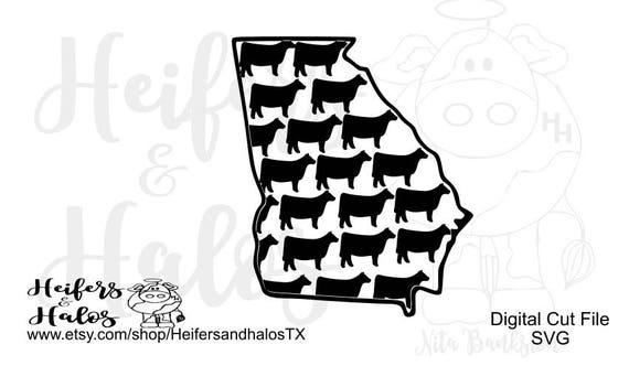 Georgia Heifers - livestock for FFA & 4H, svg, png, eps, dxf, pdf, studio3