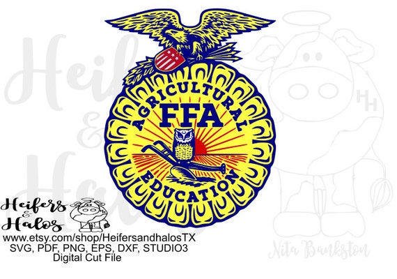 Digital Cut file, printable, sticker, sublimation file, svg, pdf, png, eps, dxf, studio3, FFA emblem with color