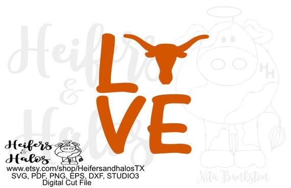 Love Hook 'Em  Horns digital file, digital cut file, sublimation, printable, svg, pdf, png, eps, dxf, cricut, silhouette