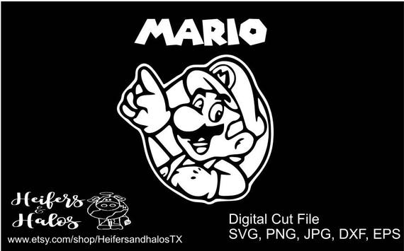 Mario svg, pdf, png, eps, dxf cut file for cricut and silhouette - t-shirts, decals, yeti cups, gamer, gaming, game