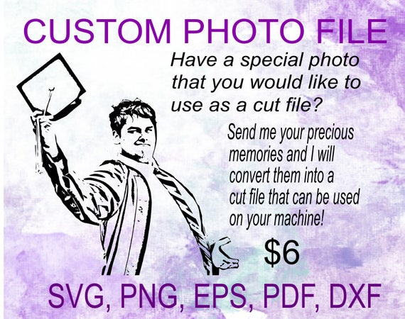 Custom Photo File Conversion svg, pdf, png, eps, dxf cut file.  Perfect for glass blocks, wood signs, t-shirts, decals, etc.