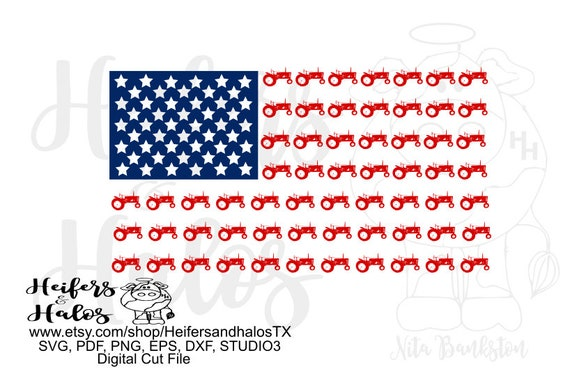 Antique tractor flag, farmall tractor, digital file, digital cut file, printable, sublimation, svg, pdf, png, eps, dxf, Independence Day