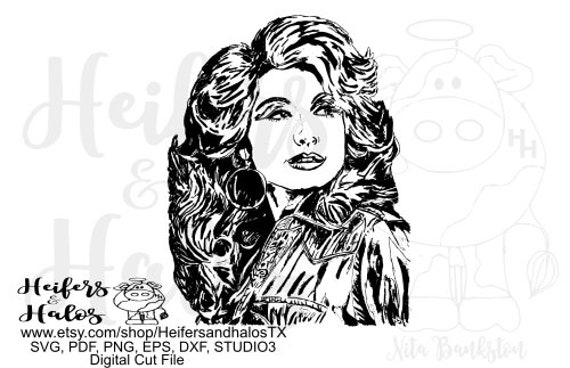 Dolly digital cut file, sublimation, printable, cricut, silhouette, svg, png, eps, dxf, studio3, studio, country music