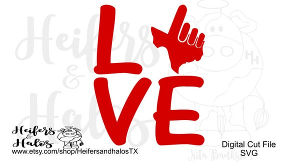 Love Guns Up Texas Tech Red Raiders CUT FILE - svg, pdf, png, eps, dxf design for t-shirts, decals, cups, etc for cutting machines