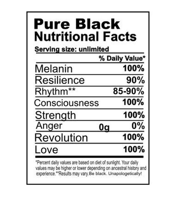 Pure Black Nutritional Facts