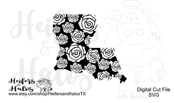 Louisiana Rose digital file for printing, cutting, sublimation, svg, pdf, png, eps, dxf, studio3