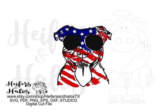 Flag pitbull digital file, digital cut file, sublimation, printable, patriotic, 4th of July, svg, pdf, png, eps, dxf, cricut, silhouette