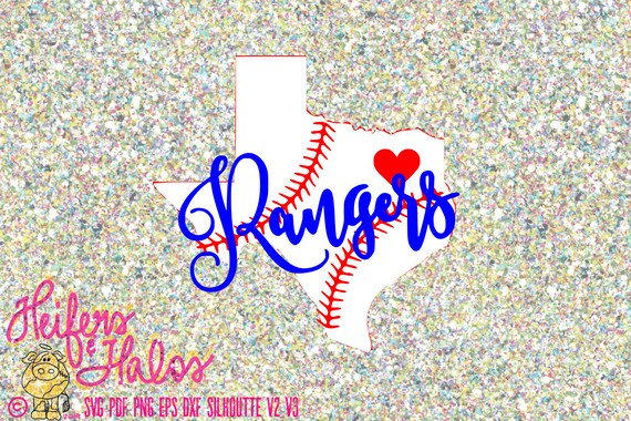 Texas Rangers Baseball with baseball state of Texas  perfect for t shirts or decals digital cut file, sublimation, printable svg, png & more