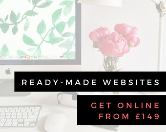 READY MADE WEBSITE   Website in a Box   Fully Functioning *Simple* WordPress Website, just Install and Go!