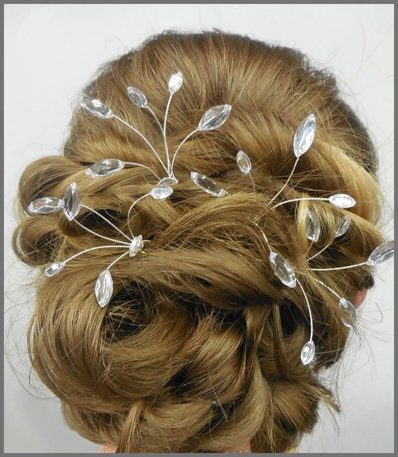 86c6daefe80f Bridesmaid gift bridal wedding diamanté spray hair pins set