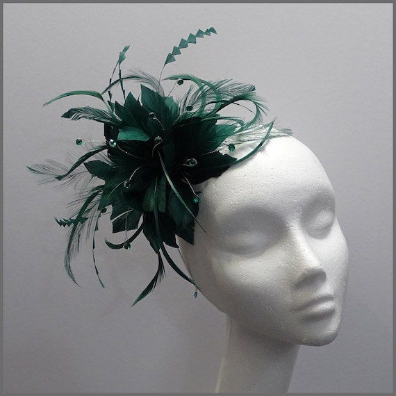 Feather /& Fascinator con Fiore Fascia E Clip Cappello Fascinator Con matrimoni donna giorno