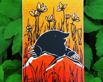 Happy mole card