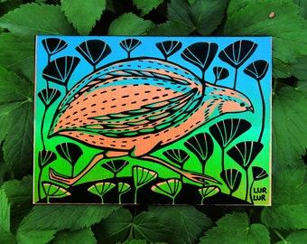 Running quail card