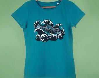 Fish wave t shirt
