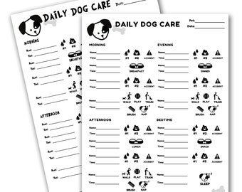 Daily Puppy Care Chart PRINTABLE | Dog Chore Chart for Kids | New Puppy Routine Chart | Dog Training Tracker | INSTANT Download 8.5x11 PDF