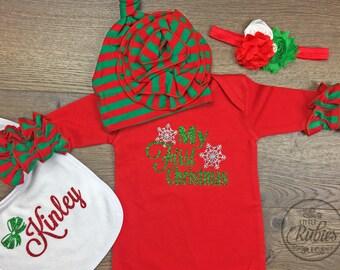 Baby christmas pajamas | Etsy