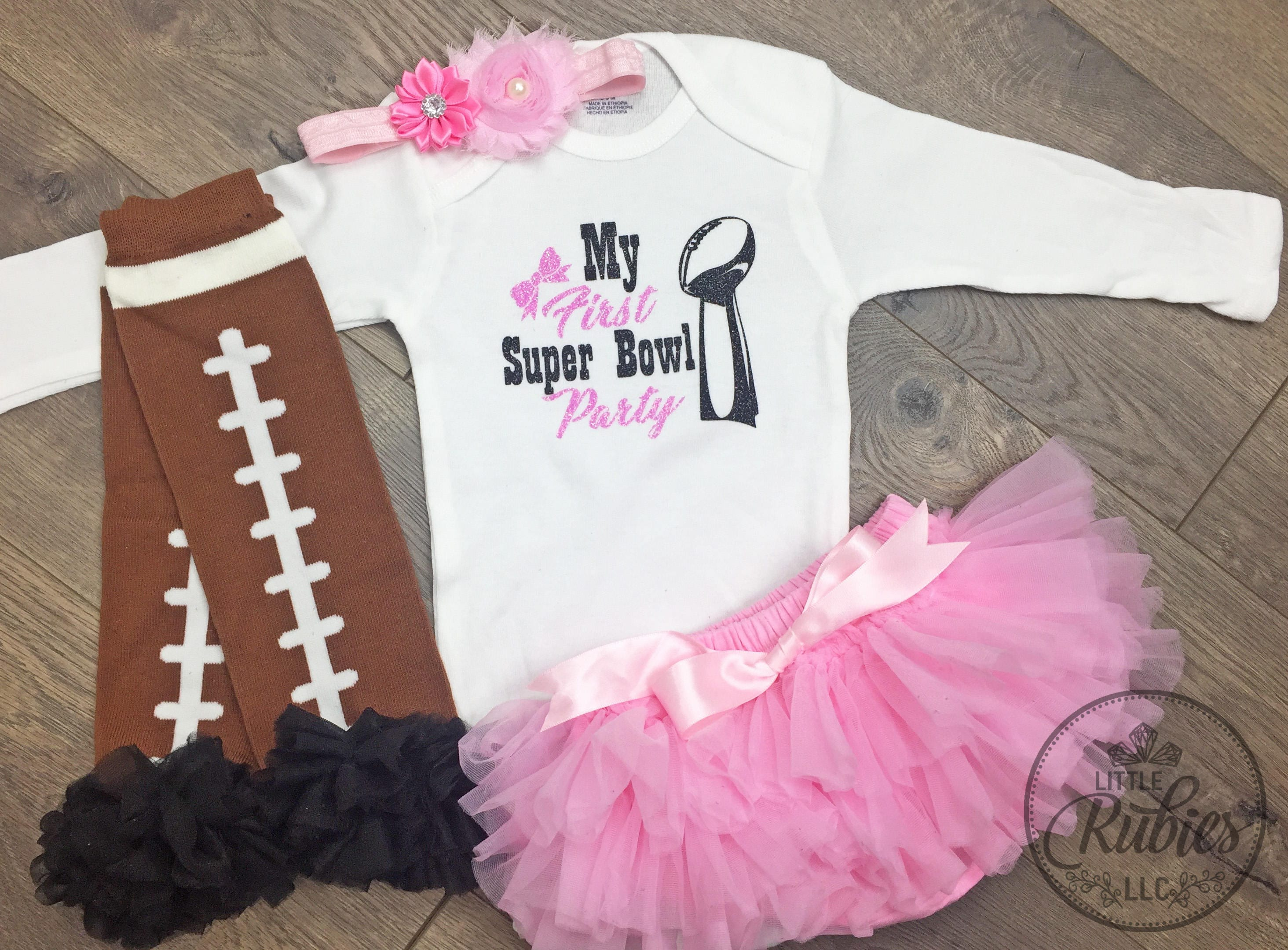 be1d1a3ef My First Super Bowl outfit baby girl super bowl outfit Super