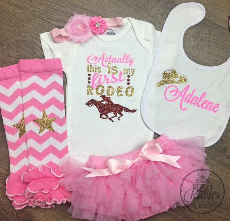 4bc36de9293aa Baby girl rodeo outfit Actually this is my first rodeo baby