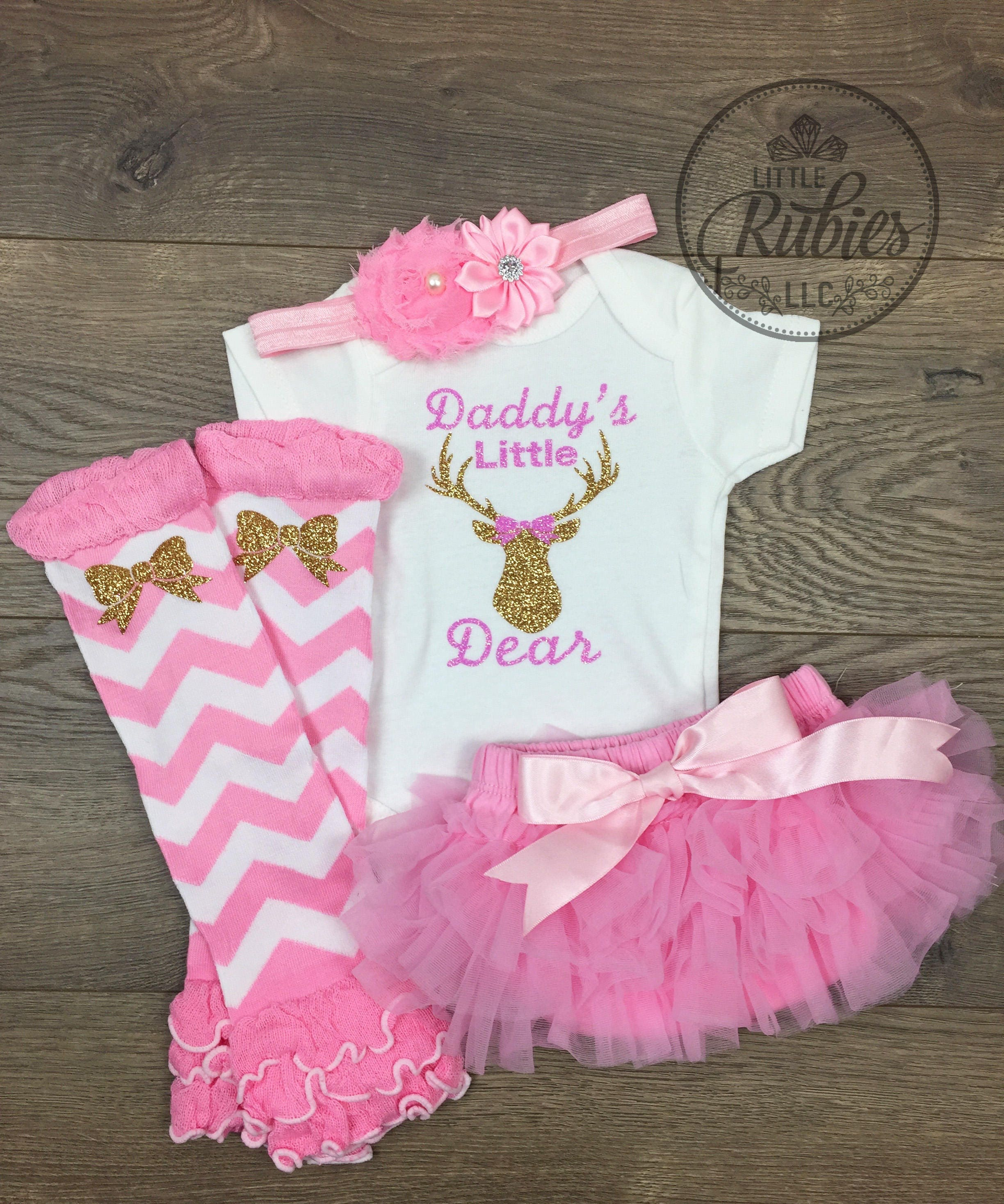 a45cf10d1554 Father s Day outfit for baby girl Daddy s little girl