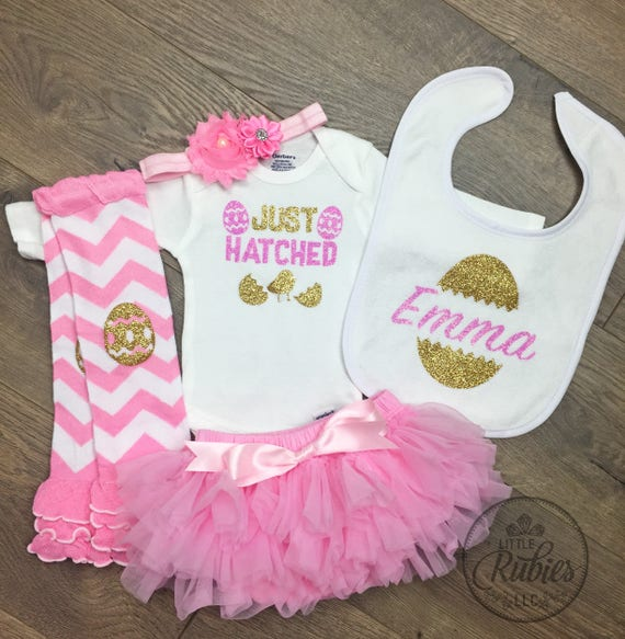 fac0d78f5619 Newborn Easter outfit Baby girl first Easter outfit Baby girl
