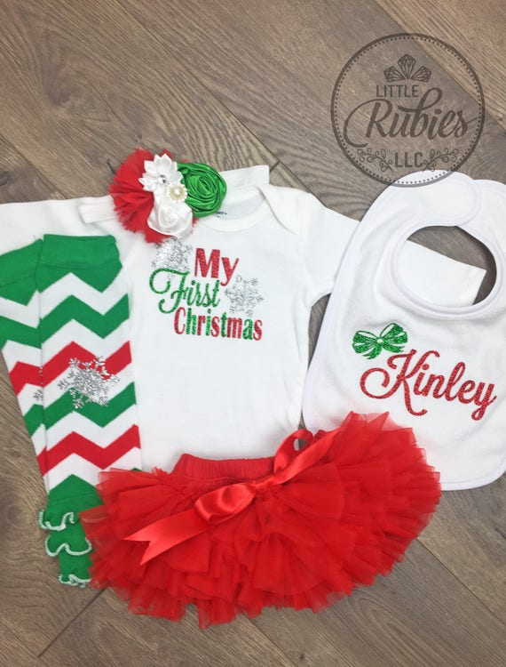 c5c819c0c my first christmas tutu outfit for girls. 4 color my first christmas ...