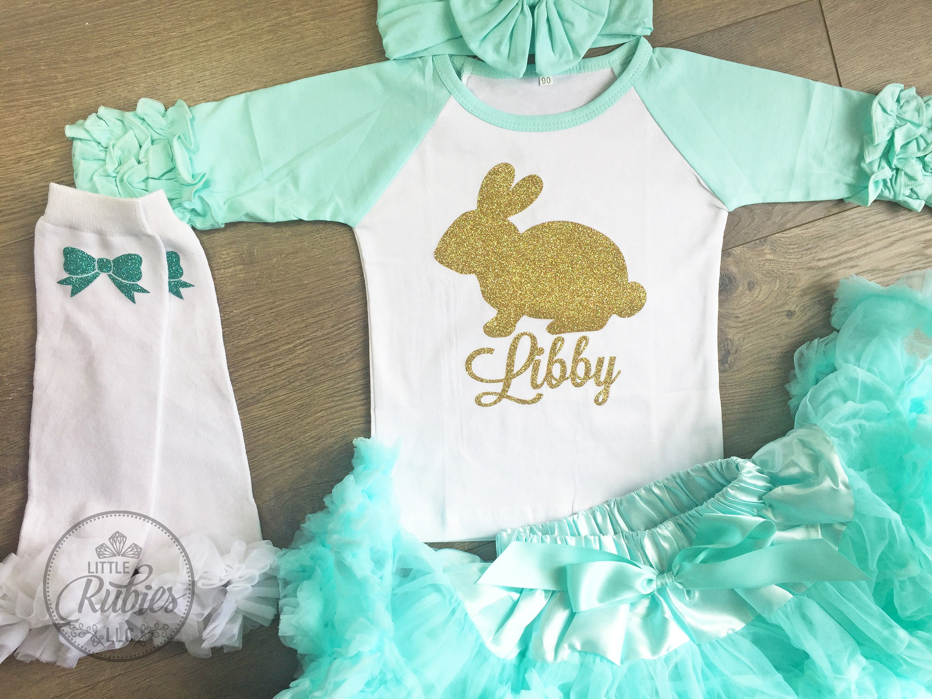 52fa2972b Little Girl Easter outfit Easter egg hunt outfit Easter bunny | Etsy