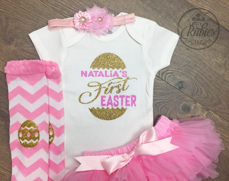 fd0f6dcb2 My First Easter outfit Baby girl Easter outfit girl | Etsy