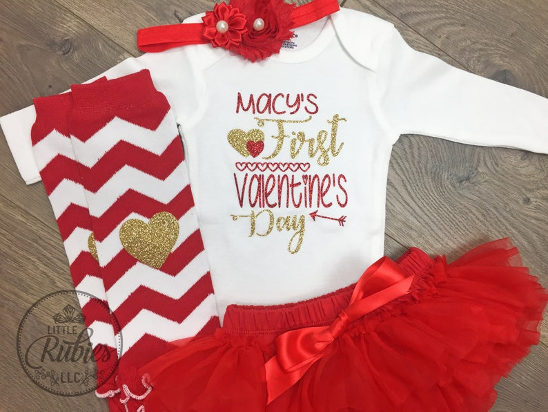 8942f8360 My First Valentine s Day outfit baby girl my first