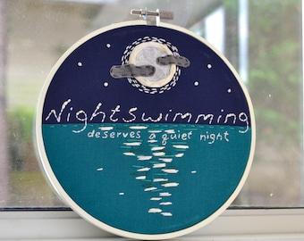 Nightswimming - R.E.M - embroidery