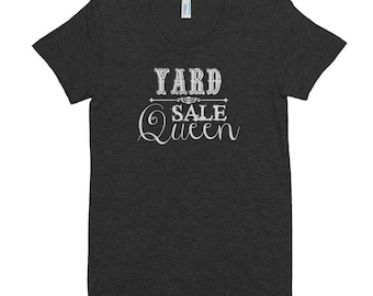 Yard Sale Queen Tee   Multi-Colors with White Lettering   Junker   Junk   Thrift