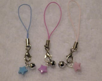 Small Star and Bell Charm