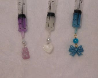 Custom Kawaii Syringe Necklace