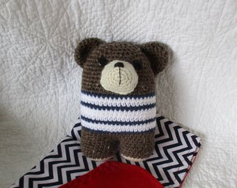Bear Rattle doll with security blanket