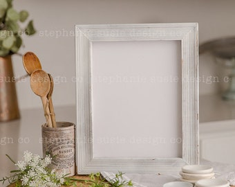 Farmhouse Kitchen Frame Ironstone Layflat Styled Mock Up
