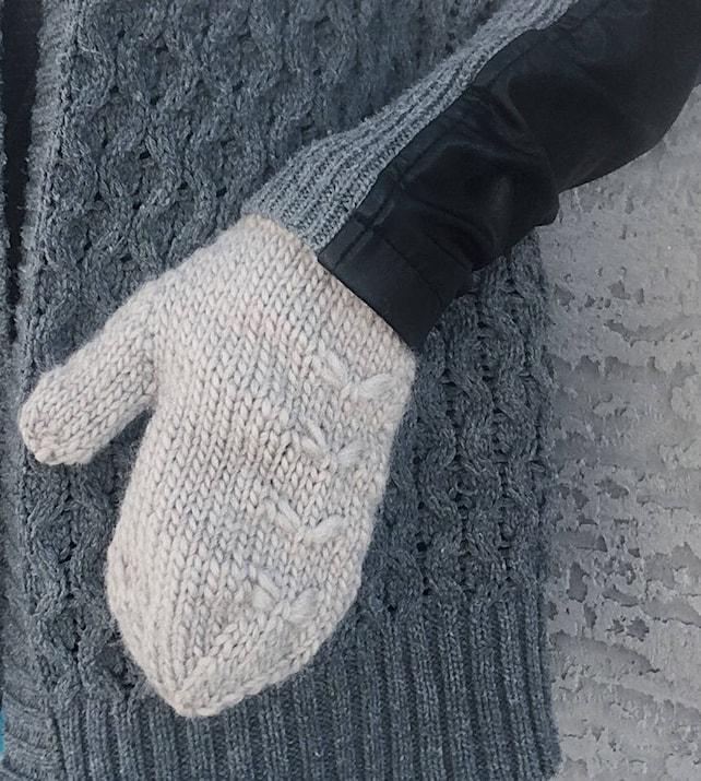Knitting pattern easy mitten knitting pattern knit mittens | Etsy