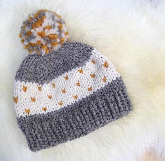 KNITTING PATTERN beginner knitting pattern hat knitting  6ddc6799c8c