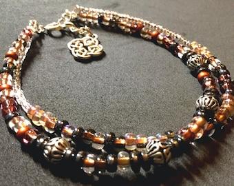 Anklet bracelets Ankle bracelets Bracelet anklets Boho anklets Beach anklets Summer anklets Jewelry Czech beads Beaded anklets Minimalist
