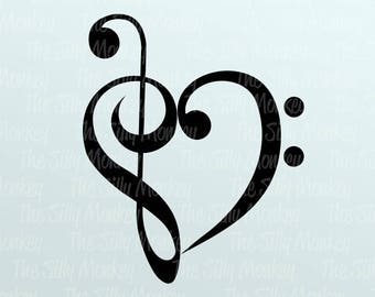 Music Heart Svg Etsy