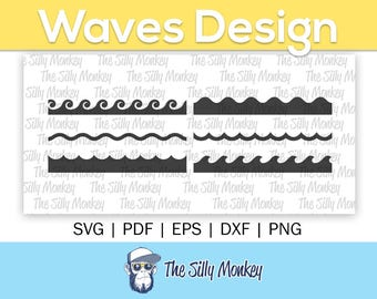 Waves Clipart File   Waves Svg File Wave Png Wave Cricut Cut File Waves Cutting File  Waves Wave Silhouette File  Waves Wave File Silhouette