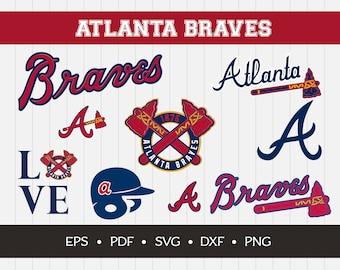 Atlanta Braves Cut Files, SVG Files, Baseball Clipart, Cricut Atlanta Braves Cutting Files, Baseball DXF, Clipart, Instant Download