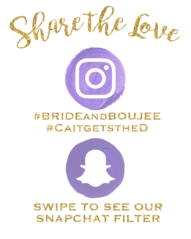 photograph relating to Printable Snapchat Logo titled Printable Proportion the Take pleasure in Social Media Indicator Instagram Snapchat Hashtag Bachelorette