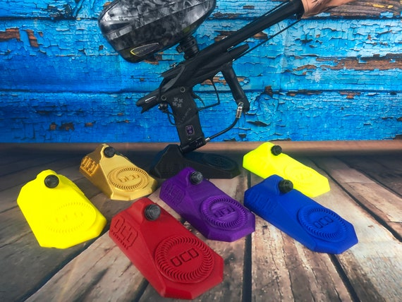 Purple 3d Printed Paintball Marker Display Stand  OCDpaintball