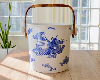 Antique LARGE Bishop and Stonier Ice Bucket in 'Chusan' Pattern