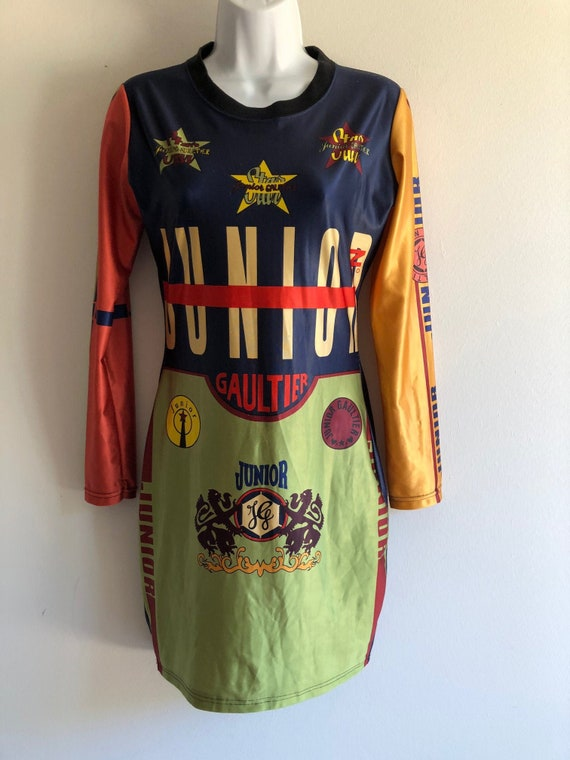 Junior Gaultier iconic vintage stretch dress from… - image 1