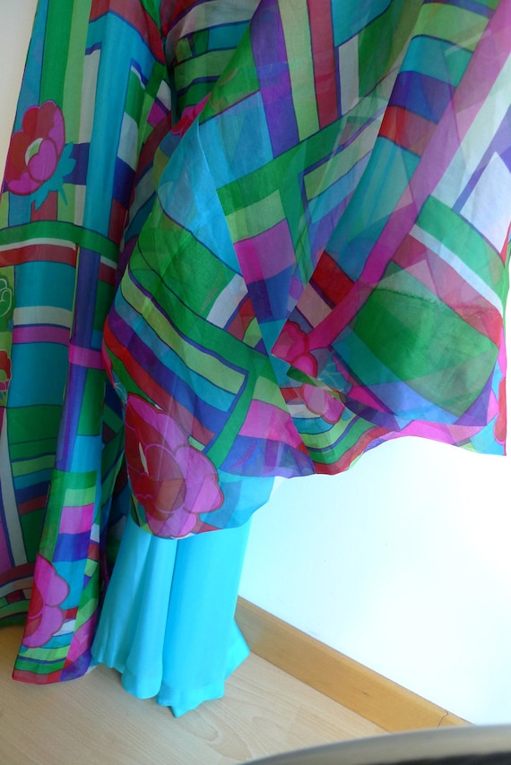 70s high waisted and wide cut palazzo pants in co… - image 5