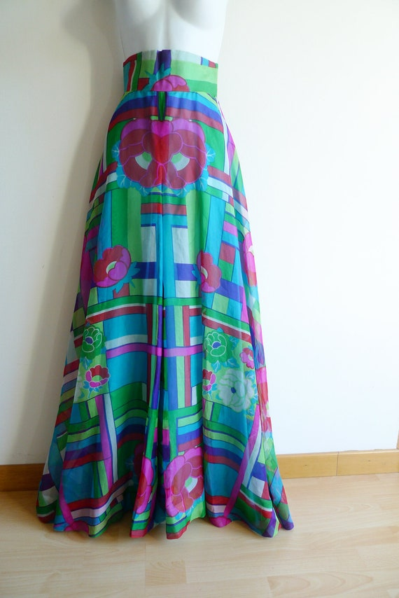 70s high waisted and wide cut palazzo pants in co… - image 1