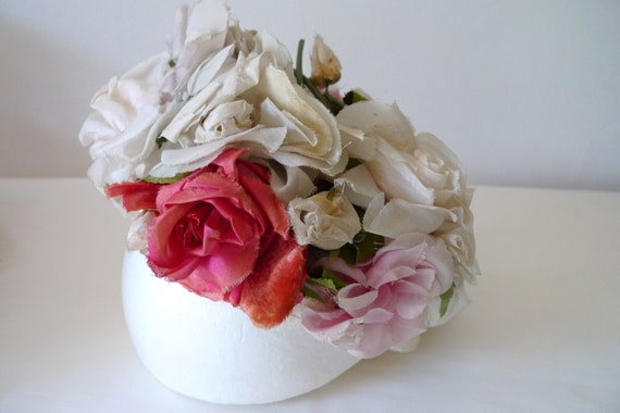 Christian Dior 'Miss Dior' floral pillbox hat