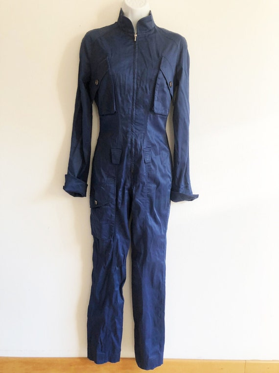 Thierry Mugler MTM stretch jumpsuit catsuit in an